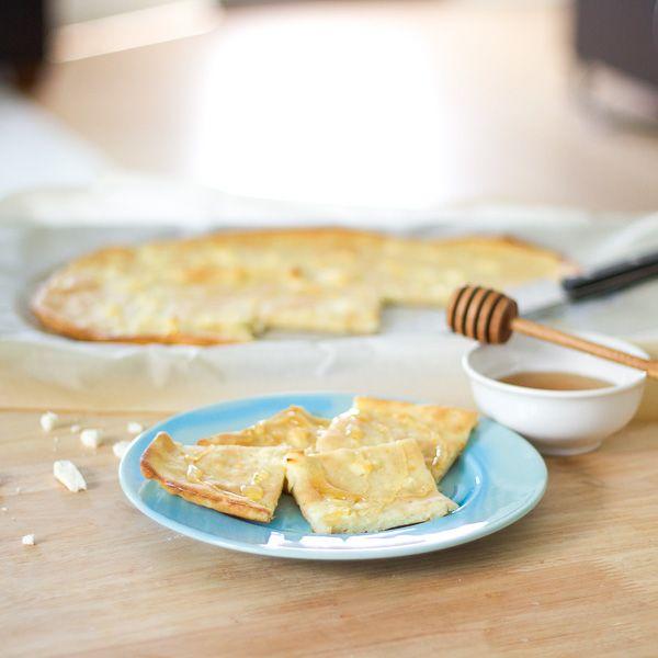Feta Cheese Pancake   Lemon & Olives   Greek Food & Culture Blog #greekfood #recipe #pancake #greece #feta #honey #breakfast #nomnom #foodporn