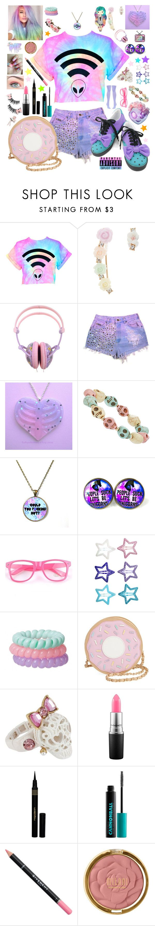 """""""How To Be A Pastel Goth """" by aspiretoinspire22 ❤ liked on Polyvore featuring Monsoon, Dorothy Perkins, H&M, Betsey Johnson, MAC Cosmetics, Napoleon Perdis, Urban Decay, Givenchy, Milani and Dolce&Gabbana"""