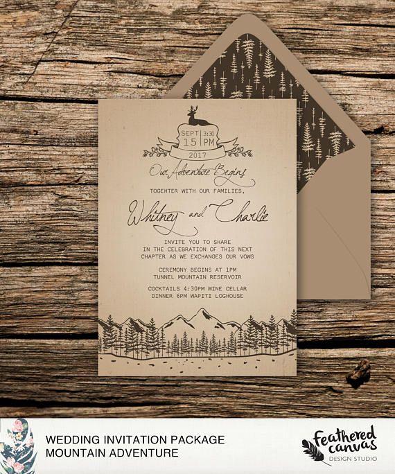 Mountain Adventure Wedding Invitation
