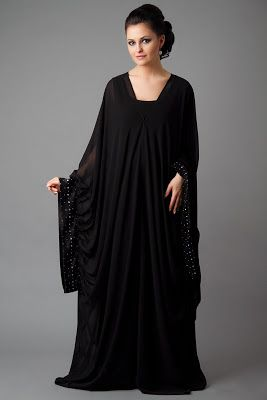 Daily Nagali: Fabulous Embroidered Abayas l Fabric Designer Embrodiery Abayas l Winter Abayas Collection 2013 - 2014