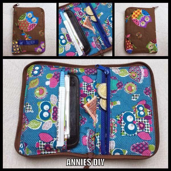 Annies DIY: kleine Geldbörse mit Platz für Handy und Karten sewing tiny purse