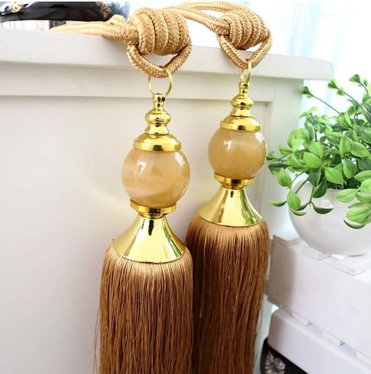 Large Tassels Home Decor: Luxury Tassel Curtain Tieback Holdback Window Decoration