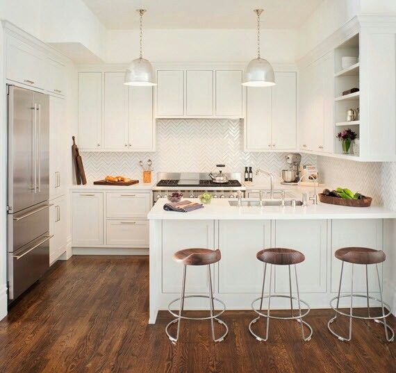 All white kitchen home pinterest all white kitchen for Small white kitchen ideas