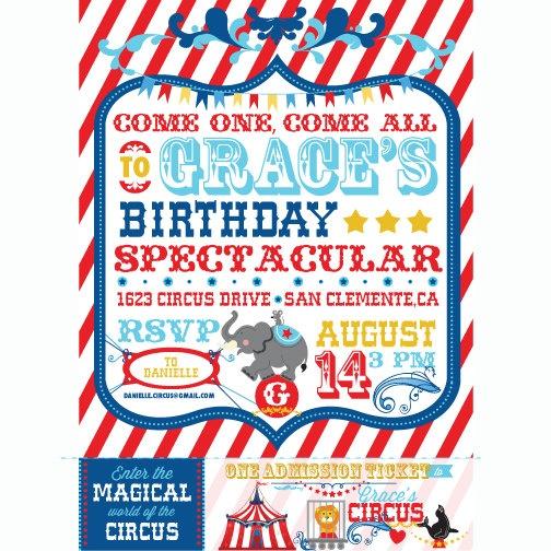 Best Circus Birthday Images On   Birthdays Circus