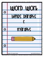 Charts with several different digraph and trigraph blends are provided here.  The charts allow students to add words to them under each blend.  This can be used as a challenge activity at a center to see how many students can come up with, or as a tool to keep adding words to for future reference.