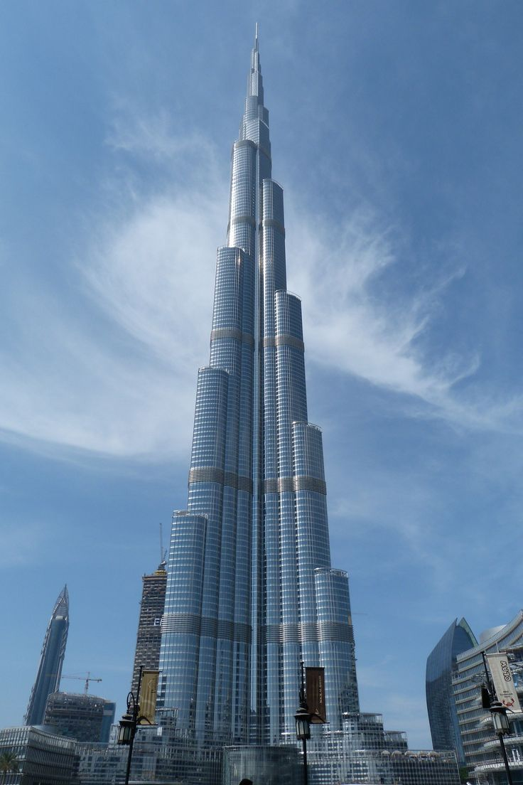 The Burj Khalifa is with a total height of 829.8 m (2,722 ft) the tallest structure in the world. From its observation decks you will have spectacular views. For more info about landmarks in Dubai go to: https://www.meetthecities.com/guide/dubai/dubai-activities-sightseeing-places-famous-landmarks/