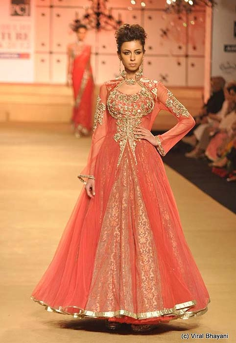 Ashima Leena at Delhi Couture Week 2012 anarkali