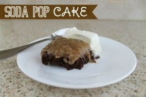 You've just GOT to try this super easy cake that uses only 2 ingredients -- a cake mix and soda pop!