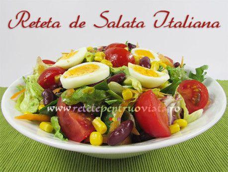 #Reteta de salata italiana - o #salata plina de vitamine, pregatita rapid si usor din ingrediente slab calorice si un dressing aromat.