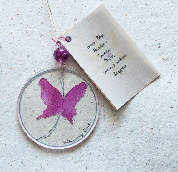 Butterfly dancer watercolour pink energy soul by DancingSoulshop