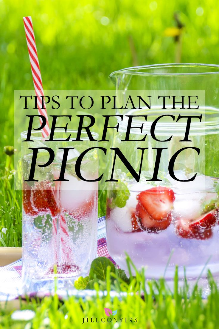 Picnic friendly recipes, entertaining ideas, and packing tips from planning to clean up. You'll be inspired to pack a picnic for your next friends and family gathering. Pin it now and plan a picnic later. Check out the tips at jillconyers.com. Jill Conyers | Fitness Health & Happiness