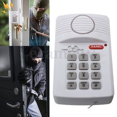 Wireless Alarm System Security Keypad With Panic Button For Home Door Window
