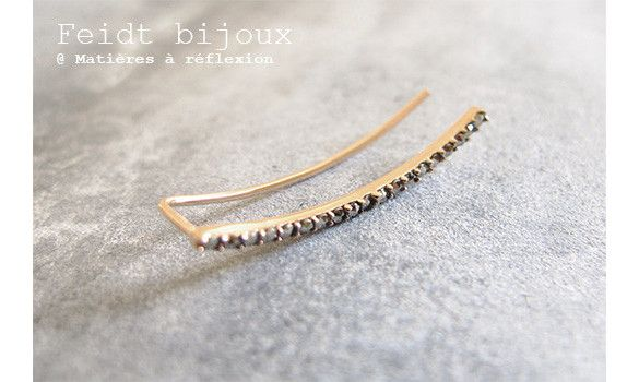 Feidt bijou d'oreille marcassite or 9k #or #gold #9carats #marcassite #bijoux #bijoudoreille #earcuff #pierre #feidt #feidtparis #feidtnine #fashion #ss15