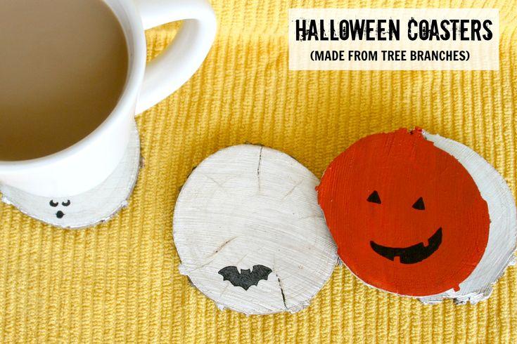 Halloween Coasters  I  via Jamie at C.R.A.F.T.: Crafts Paintings, Diy Halloween, Diy Crafts, Crafty Halloween, Halloween Crafts, Fall Halloween Thanksgiving, Crafts Coasters, Crafts Stores, Crafts Weeks
