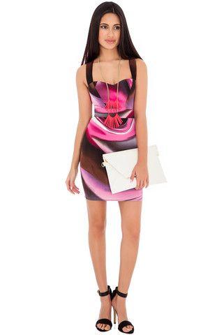 Sarah Multicoloured Swirl Print Dress – Juicy Secrets