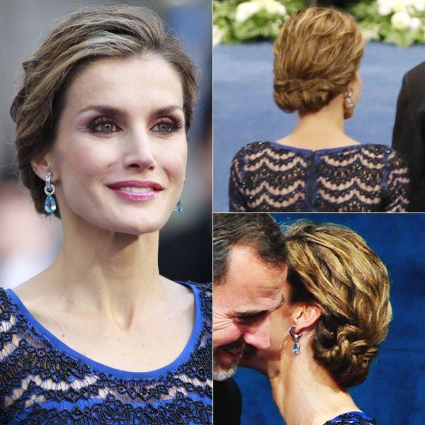 la soberana causó sensación con su original recogido con retorcidos y su look azul Asturias, con el que hizo un guiño a su tierra.