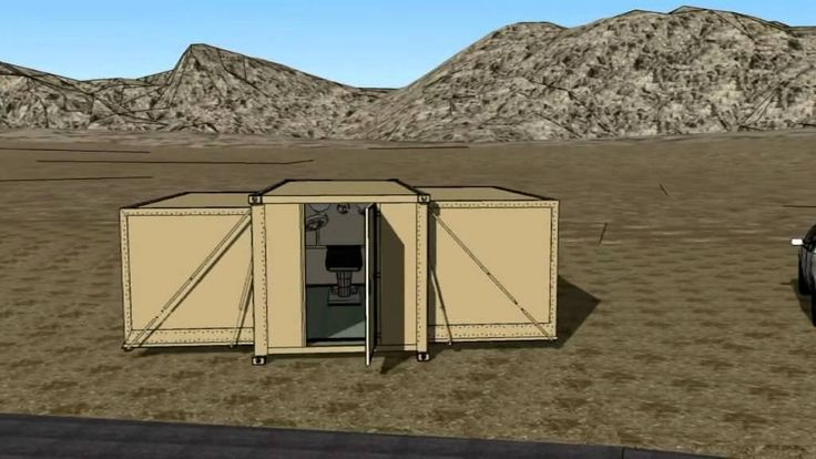 1 to 3 volumes expandable shelter
