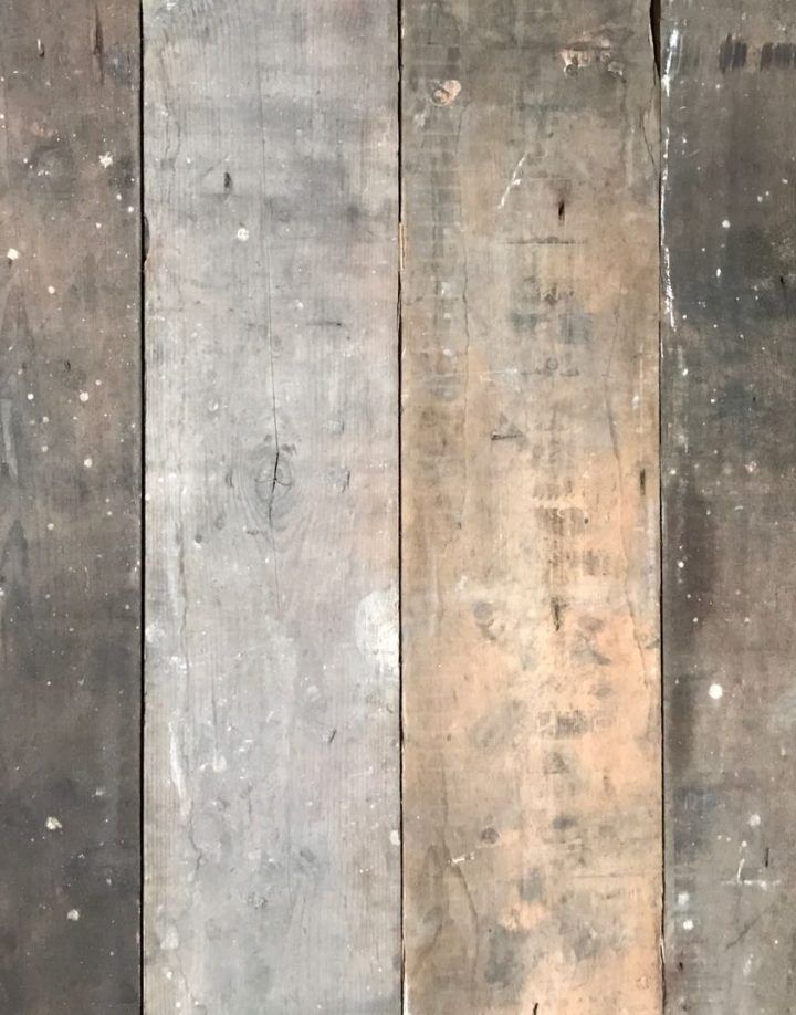 These boards are reclaimed from a 100 year old UK warehouses. The visual, fortuitous remainders of projects from years gone by can be seen on these planks through the varying brown, grey, white and yellow tones. This only enhances the time-worn appeal of this board.
