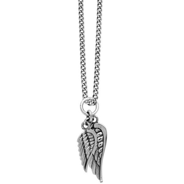 Men's King Baby Sterling Silver Wing Pendant Necklace ($480) ❤ liked on Polyvore featuring men's fashion, men's jewelry, men's necklaces, silver, mens chain necklace, mens necklaces, mens sterling silver chain necklace, mens sterling silver chains and mens angel wing necklace
