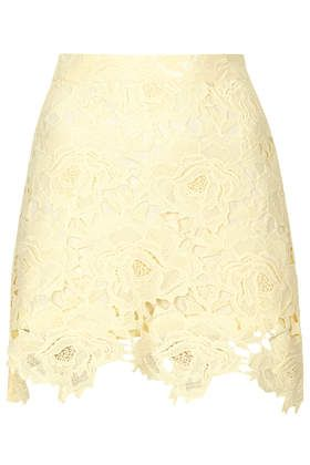Cut Out Rose Lace Skirt - New In This Week - New In