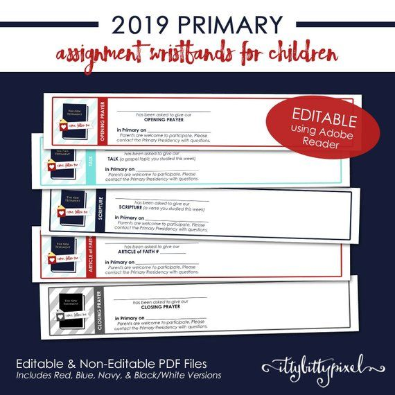 photograph about Printable Wristband called LDS 2019 Principal Assignment Wristband - Appear Stick to Me Fresh new