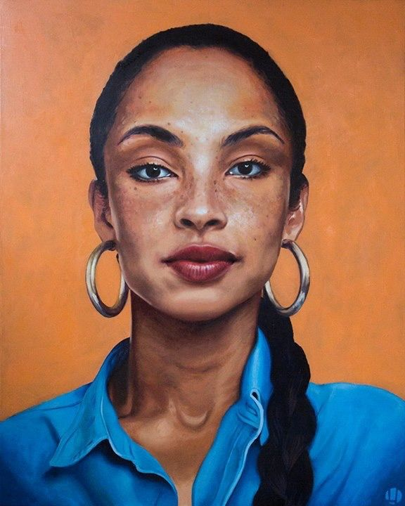 Oil painting portrait - Sade