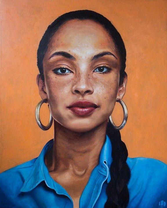 Oil painting portrait - Sade