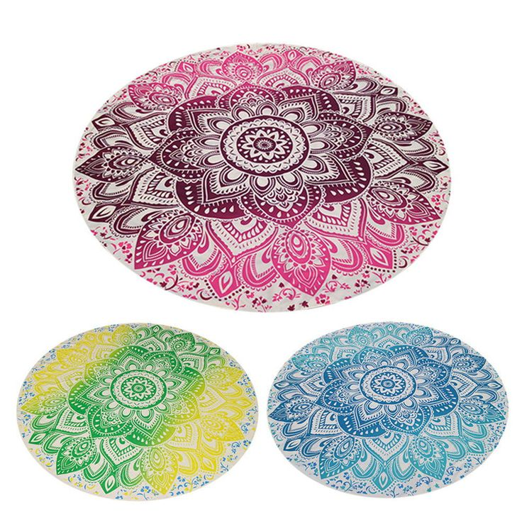 150cm Summer Chiffon Printed Round Beach Towels Bohemian Style Retro Circle Beach Towel Serviette De Plage Reactive Printing