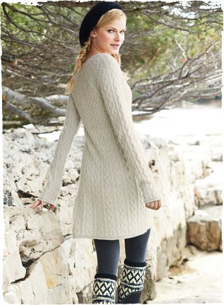 A timeless classic—the fisherman's cableknit sweater—reimagined as a modern silhouette. Knit of blissfully soft and frothy woolen-spun royal alpaca, it's styled to fit and flare with raglan sleeves, rolled trim and ribbed panel shaping at the waist.