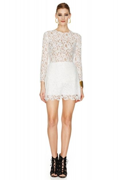 White Lace Dress by PNK casual  #pnkcasual #lace #dress #fashion #cool