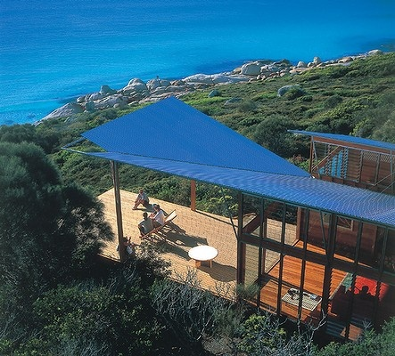 Bay of Fires Lodge, Tasmania. This iconic eco-lodge is located at the Bay of Fires, which Lonely Planet describes as the 'hottest travel destination for 2009'. Bay of Fires Lodge costs $450 a person including meals, drinks and activities.
