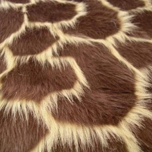 Brown and Orange Giraffe Animal Fur. High quality fur, fab for a fancy dress outfit. £9.49 per metre! #fabric #material #fur #animal #giraffe