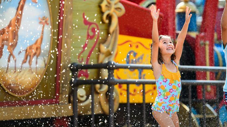 Splash Pads at Disney parks