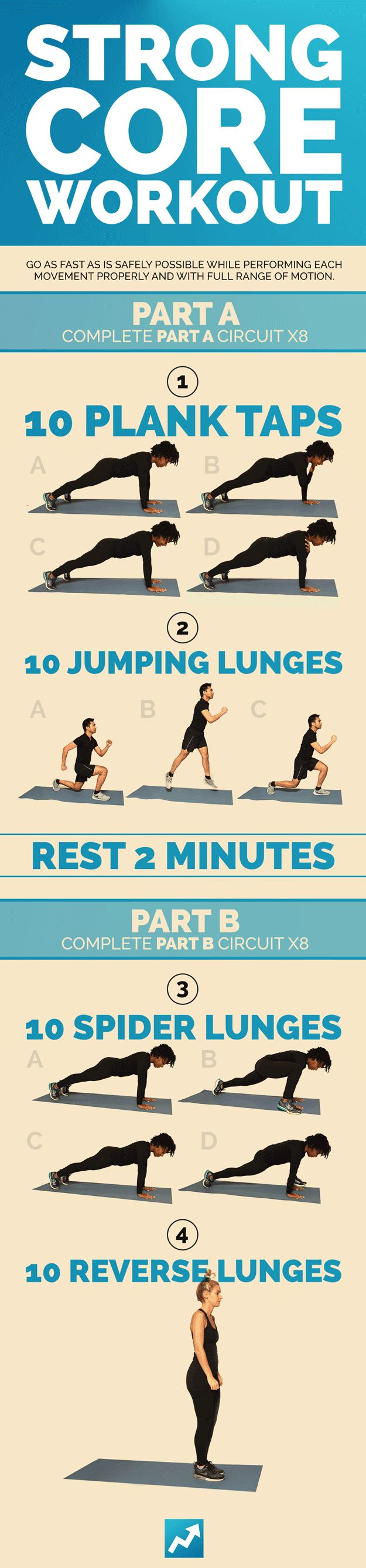 Strong Core Workout | 9 Quick Total-Body Workouts You Can Do Literally Anywhere