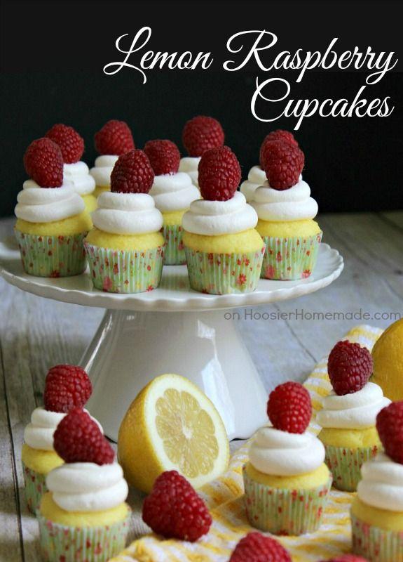 Lemon Raspberry Cupcakes   Recipe on HoosierHomemade.com                                                                                                                                                                                                                                                             Sweet Basil                                                                   • That's you…