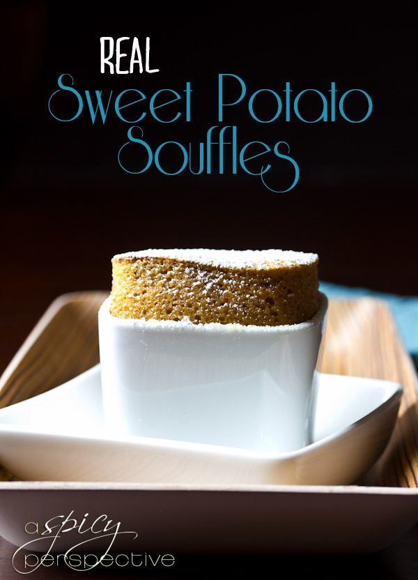 REAL Sweet Potato Souffles | ASpicyPerspective.com #thanksgiving #recipes #sweetpotato