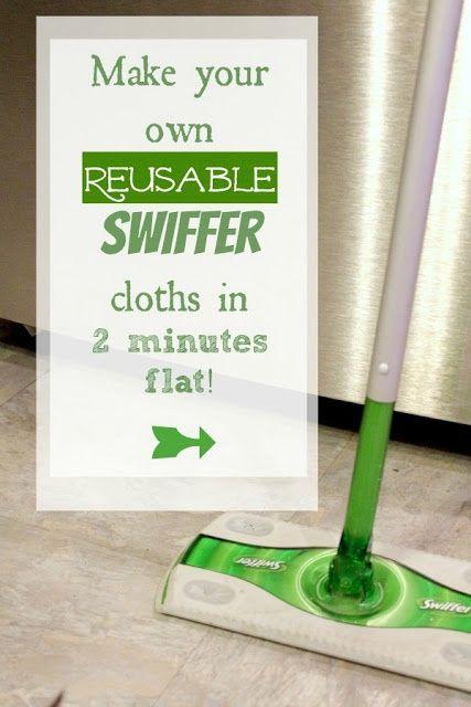 Pour le ménage économique:Make Your Own Reusable Swiffer Cloths! - The Creek Line House