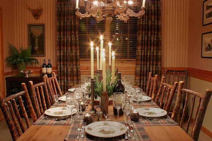 the dining room . . . dressed for a simple family dinner.