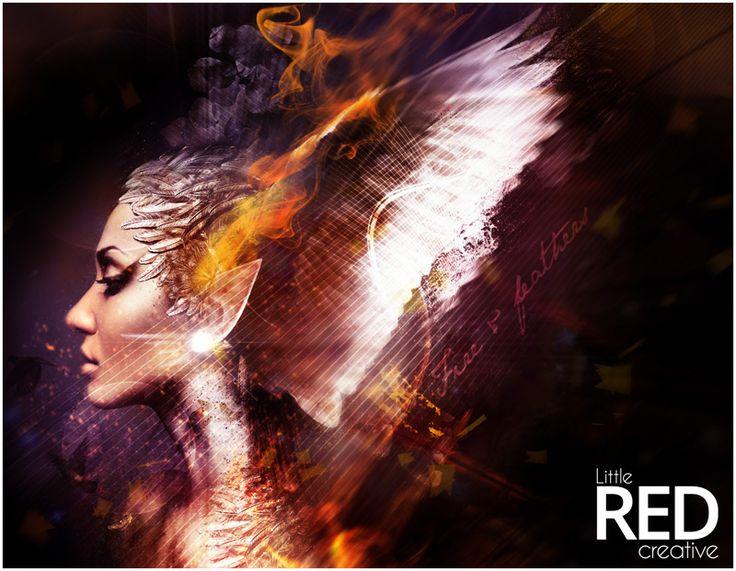 Todays artwork :)  #design #digitalart #queen #fire #fantasy #photoshop #graphic #art #light