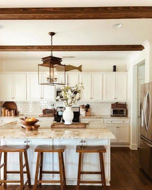 Refrigerator Cabinet, Kitchen Countertops Makeover