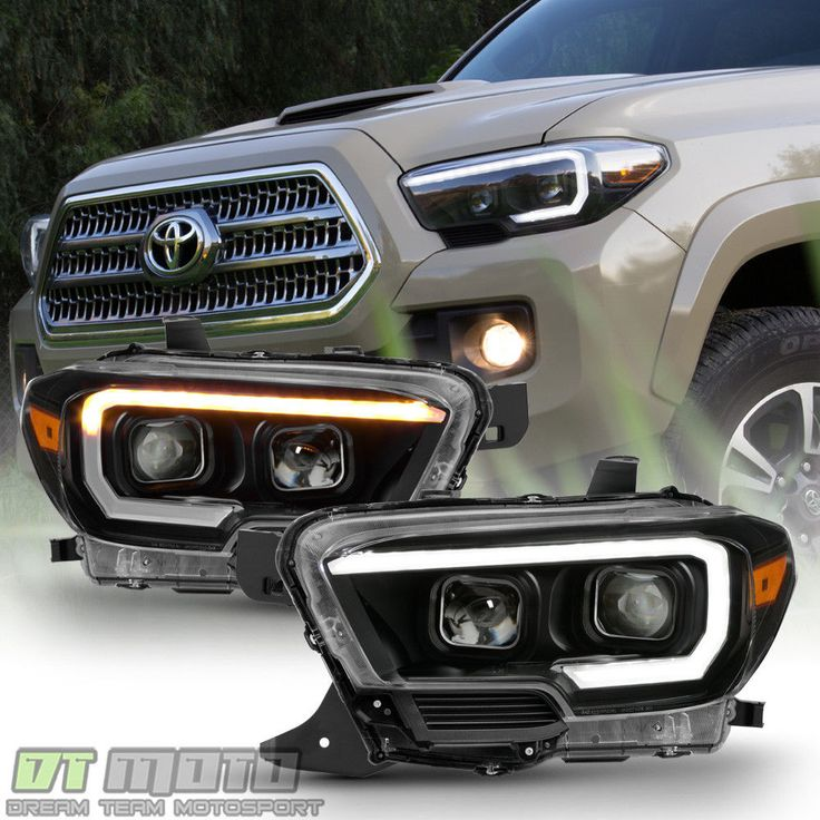 Cool Awesome Black 2016-2017 Toyota Tacoma TRD LED Sequential Signal DRL Headlights Headlamps 2017/2018 Check more at https://24auto.cf/2017/awesome-black-2016-2017-toyota-tacoma-trd-led-sequential-signal-drl-headlights-headlamps-20172018/