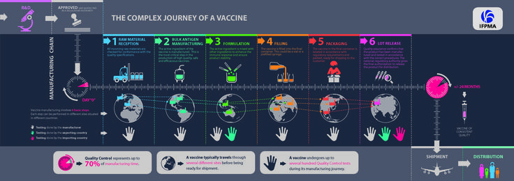 vaccine manufacturing process | Infographic: The Complex Journey of a Vaccine