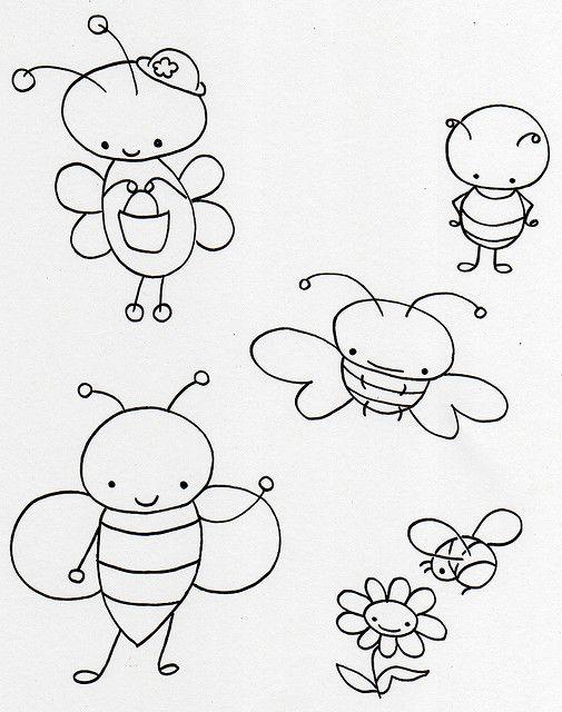 Cute little bugs free embroidery pattern