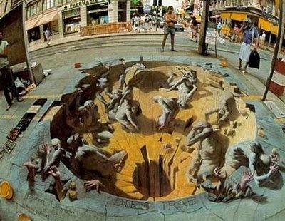 Kurt Wenner's amazingly sidewalk masterpiece