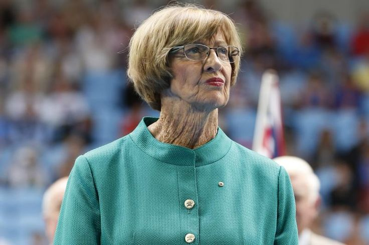 Australian tennis great  Margaret Court during the official launch of the remodeled Margaret Court Arena at the Australian Open tennis championship in Melbourne, Australia, Monday, Jan. 26, 2015. (AP Photo/Vincent Thian)