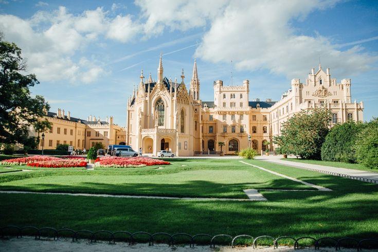 Fairy tale castle Lednice in the Czech republic. Get married like a princess!