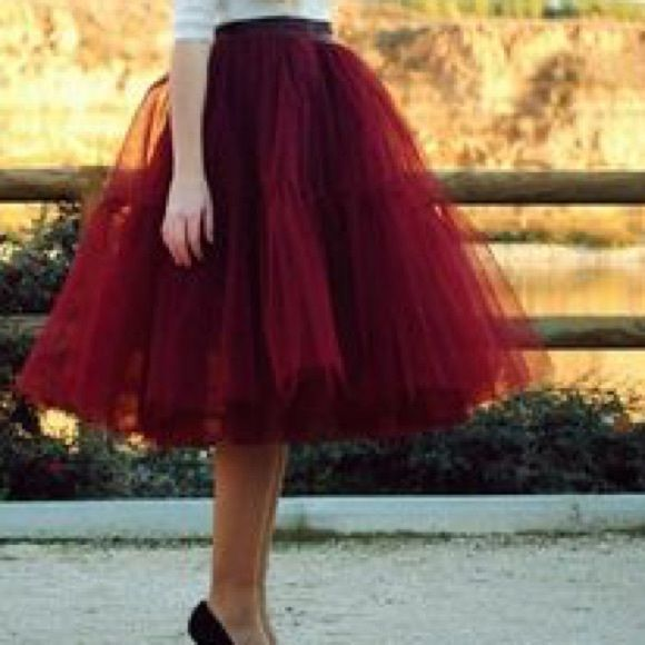 1000 ideas about maroon tulle on pinterest long grey for Wedding dress skirt only