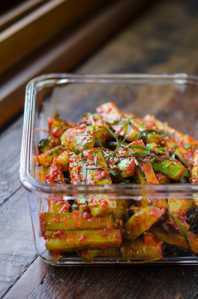 How to make Easy Cucumber Kimchi, Ooi-kimchi (오이김치)