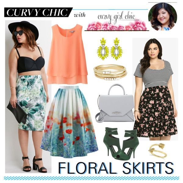 Awesome Girl Summer Outfits Floral Skirts with Curvy Girl Chic