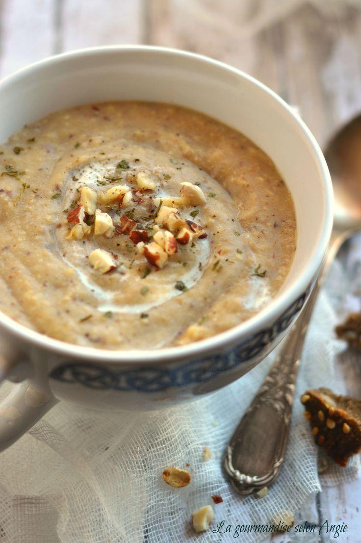 recette de soupe - velouté de navets aux noisettes